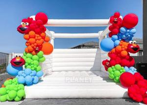 China Party Events Used Commercial Grade 1000D PVC Tarpaulin Bouncer Inflatable Wedding Bouncy Castle White Bounce House wholesale