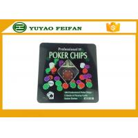 China 100 Pcs Tin Box Texas Holdem Luxury Poker Chip Set wholesale