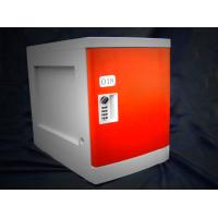 China Anti Rust / Anti Water Red ABS Plastic Lockers 4 Tier For Employee Keyless wholesale