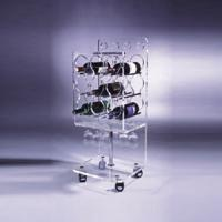 Quality Clear Acrylic Wine Display Stand Holder For Serving Handcart for sale