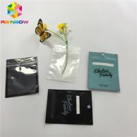 China Clear Front Plastic Mylar Ziplock Stand Up Pouches Three Side Seal For USB Cable wholesale