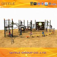 China Physical Activity Kids Play Equipment Outdoor Abrasion Resistant Rope Bridge And Climbing Wall wholesale