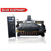 China Multi head engraving wooden cnc Router machine with 4th axis , doors wood machine on sale
