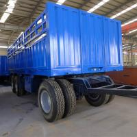 China 20ft Size Flat Bed Semi Trailer 12 Wheels 3 Axle Cargo Truck Trailer wholesale