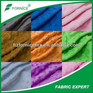 China China Supplier 100% Polyester Brushing Minky Fabrics on sale