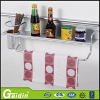 China Metal kitchen accessories wall mount aluminum kitchen storage rack wholesale