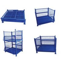 Welded Storage Cage Foldable Large Wire Mesh Containers For Euro