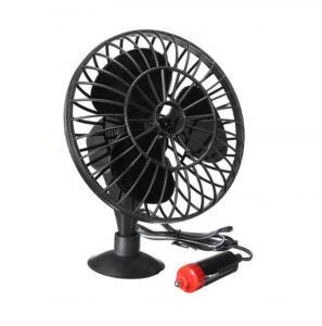 """China 4"""" Plastic Car Fan DC 12V Black Fan Provide OEM Service One Year Warranty wholesale"""