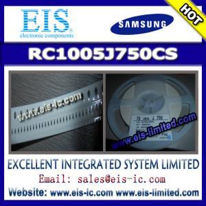 China RC1005J750CS - SAMSUNG - THICK-FILM CHIP RESISTOR wholesale