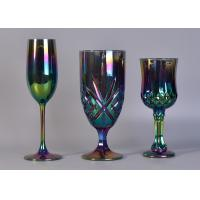China 6Oz Ion Electroplated Glass Champagne Stemware Wine Glasses For Candle Making wholesale