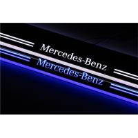 Benz e glk c class led moving door scuff for mercedes door for Mercedes benz door sill