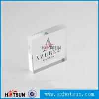 China OEM brand logo solic acrylic block, Lucite/PMMA promotion block stand wholesale