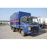 China 116HP multi color Light Duty Commercial Trucks  , HOWO 4*2 Light cube van truck wholesale