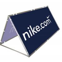 Quality Advertising A Frame Outdoor Banner Stands Aluminium Double Sided Printing for sale