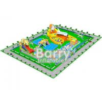 China 0.55mm PVC Material Giant inflatable water park projects , amusement park design on sale