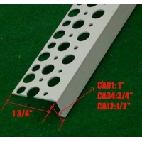China White color PVC angle bead with high quality fiberglass net used for wall corner wholesale