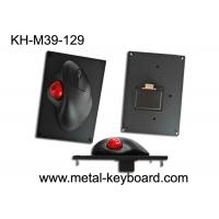 China 39MM Resin Trackball With Black Metal Mounted Panel , Industrial Computer Mouse wholesale