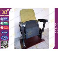 China Fixed Leg Foldable Movie Theater Seats With Writing Table , Plastic Church Chairs wholesale