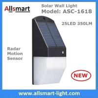 Buy cheap Solar Wall Light 25 LED Solar Garden Lights Decorative Fence Radar Sensor Motion from wholesalers