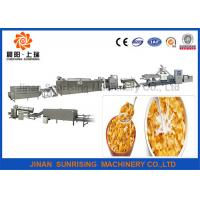 China Good Taste Breakfast Cereal Corn Flakes Processing Line Electricity / Gas Energy wholesale