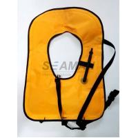 China Neon Yellow Free Diving Inflatable Life Vests Buoyancy Snorkel Vest Water Safety Vest wholesale