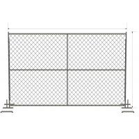 China 6 foot x 12 foot chain link mesh temporary fencing panels with a 1 3/8 x 16GA and 2-3/8 inch temp fence on sale