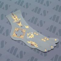 China 2015 Charming Flash Metallic Gold Jewelry Temporary Foot Tribe Tattoos wholesale