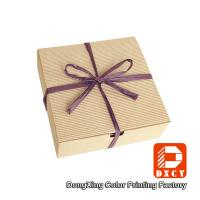China Biodegradable Corrugated Cardboard Boxes , Delicate Ribbon Tie Chocolate Packaging Boxes wholesale