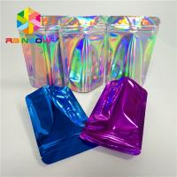 China Cosmetics Hair Extension Plastic Pouches Packaging Reusable Mylar Ziplock Bag wholesale
