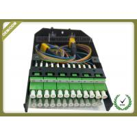 China 24 Cores FTTH Termination Box MPO Metal Cassete With LC Adapters wholesale