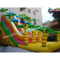 PVC Tarpaulin Giant Dinosaur PVC Dry Commercial Inflatable Slide With Customised