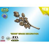 China No. BD030 Brass Roses Bronze Funeral Decoration Size 23.5*11 Cm Material Copper Alloy wholesale