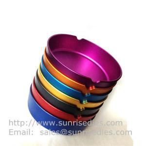 China Multi color anodization Aluminum pocket cigar ashtrays, cheap aluminum smoke ashtray, on sale