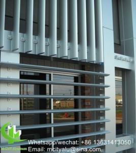 China Aluminum sun louver Aerofoil profile aluminum louver with oval shape for facade curtain wall wholesale