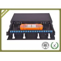 China 48 Core 1U Type Fiber Optic Patch Panel Slidable ODF For SC Adapter Port wholesale