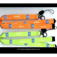 China cheap custom 20*1000mm orange color  Logo Printed Lanyard with no minimum order on sale