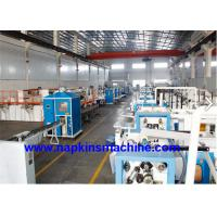 China Plastic Film Packing Facial Tissue Production Line , Facial Tissue Making Machine wholesale