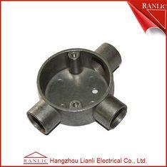 China Aluminum EMT / IMC Conduit Junction Box Three Way Pipe Fitting Customized on sale