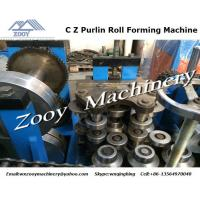 China Automatic Roll Forming Machine PLC control , C Z Purlin Type wholesale