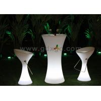 China Party Waterproof Plastic Bar Chairs , LED Lighting Furniture with 16 Colors wholesale