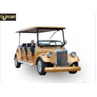 China Classic Type Electric Club Car Utility Vehicle With Golden Yellow Color , 8 Seat on sale