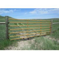 42*1.5mm Galvanized Steel Cattle Panels , Smooth Welding Portable Cattle Panels