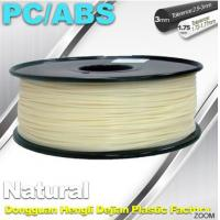 China Natural Color 1.75mm PC / ABS 3D Printer Filament 1.3kg / Spool wholesale