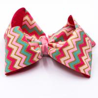 China Decorative Butterfly Hair Bow Stripe Patterned Grosgrain Fabric Type wholesale