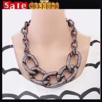 China Big Bib Twisted Necklace Brand Statement Collar Choker Short Necklaces Chain Wholesale on sale