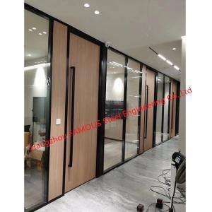 China Melamine Panel Aluminum Frame Single Glass Office Partition Wall Modular wholesale