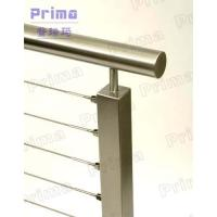 China Mirror finish stainless steel rod stair railing for public area on sale