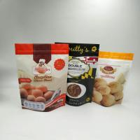 China Custom Logo and Size Resealable Stand Up Zipper Cookies Snack Packaging Bag wholesale