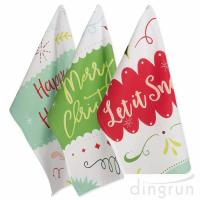 China Christmas Holiday Dish Towels Kitchen Towels Hand Towels For Home Gift wholesale