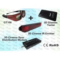 China 3D Cinema Solution for 300~1000 seat cinema with 3D IR Emitter and 3D IR Glasses wholesale